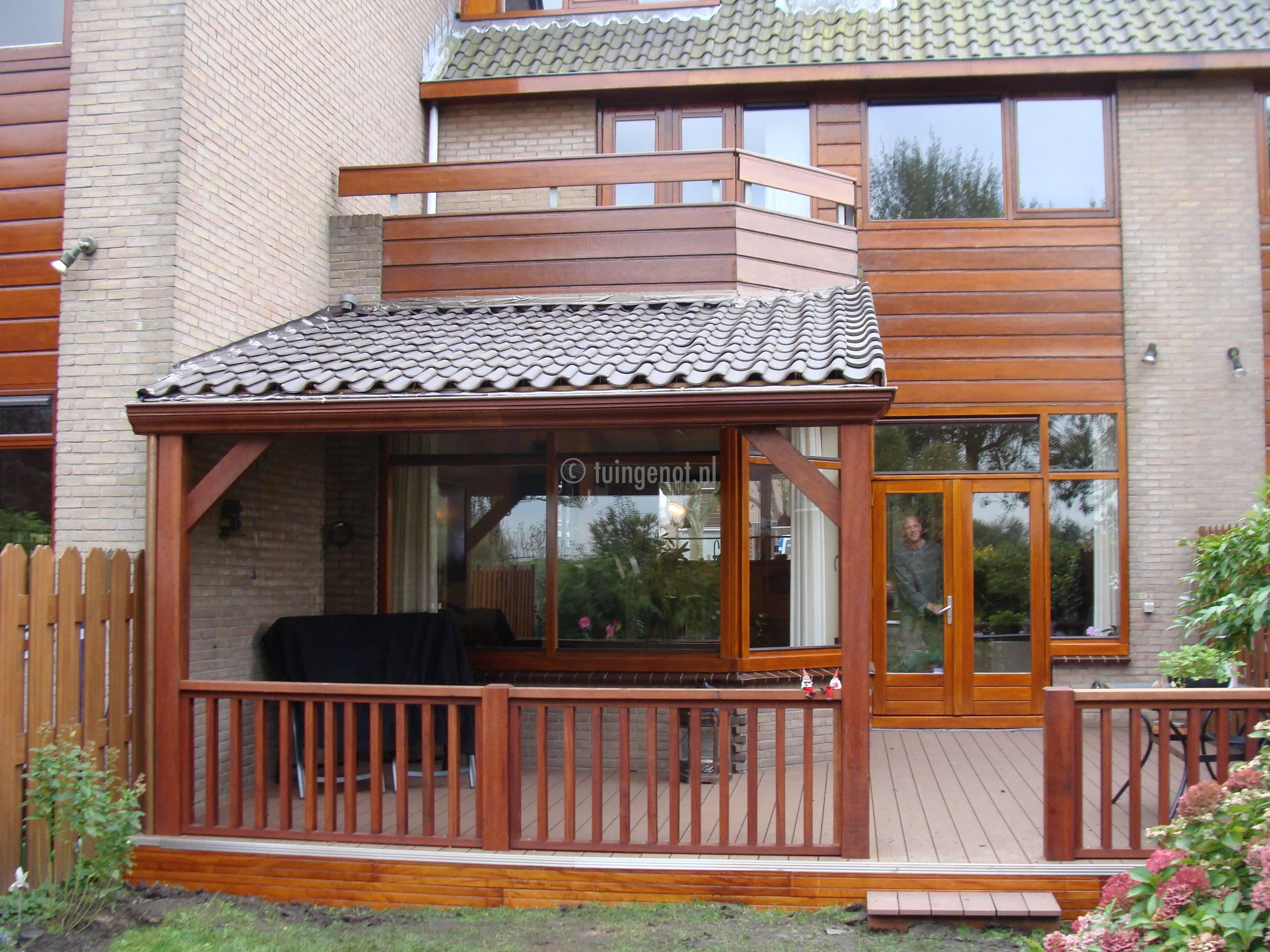 Fabulous Tuingenot: 89. houten veranda van hardhout #TE06