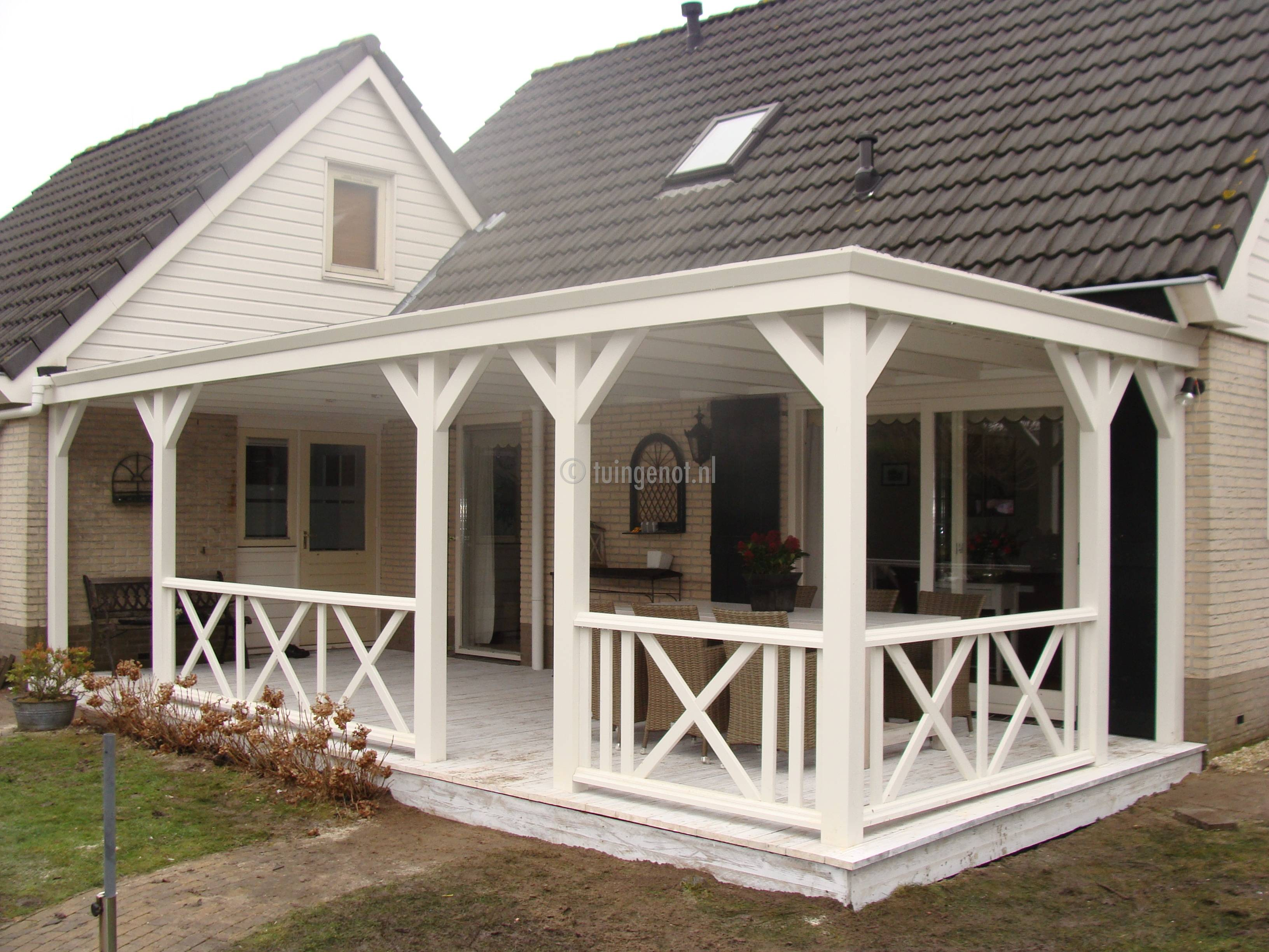 tuingenot lariks houten veranda overkapping met epdm. Black Bedroom Furniture Sets. Home Design Ideas